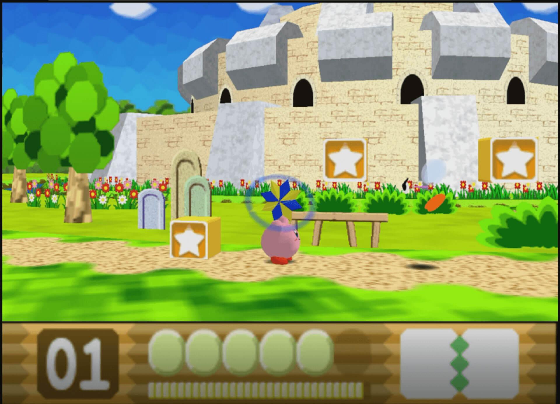 Kirby wirft seine Fähigkeit ab