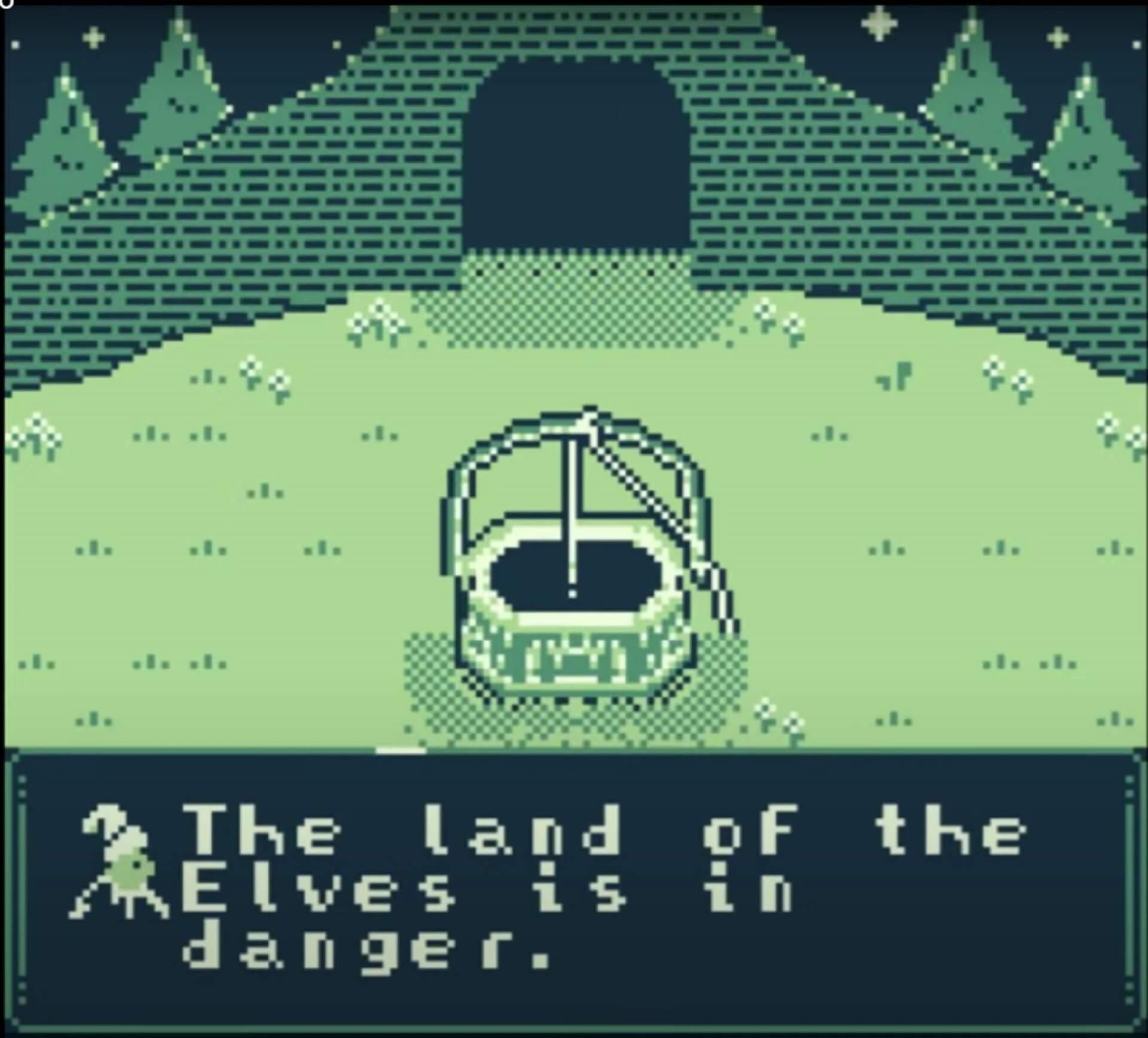 Mission des Elfen im Spiel The Shapeshifter Spiel für den Game Boy