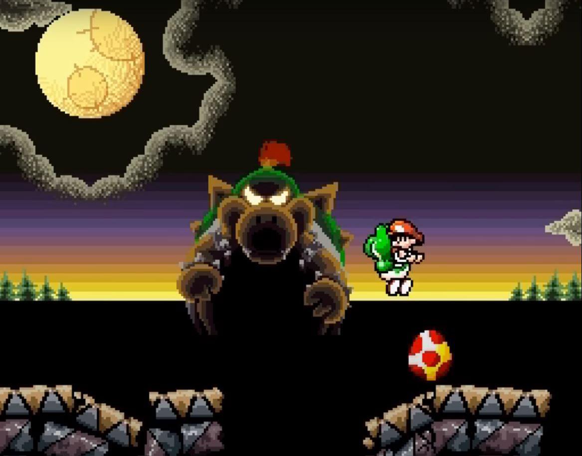 Super Mario World 2 – Yoshi's Island: Grüner Dino mit Baby im Gepäck!