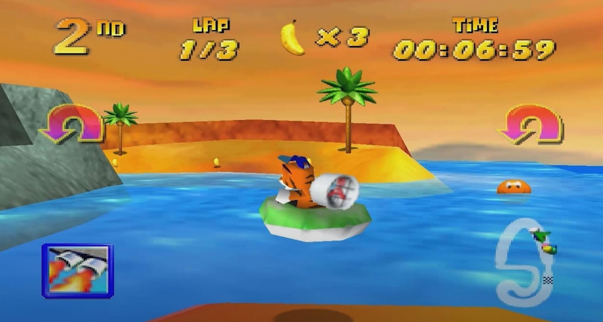 Diddy Kong Racing: Timber auf der Jagd nach Bananen