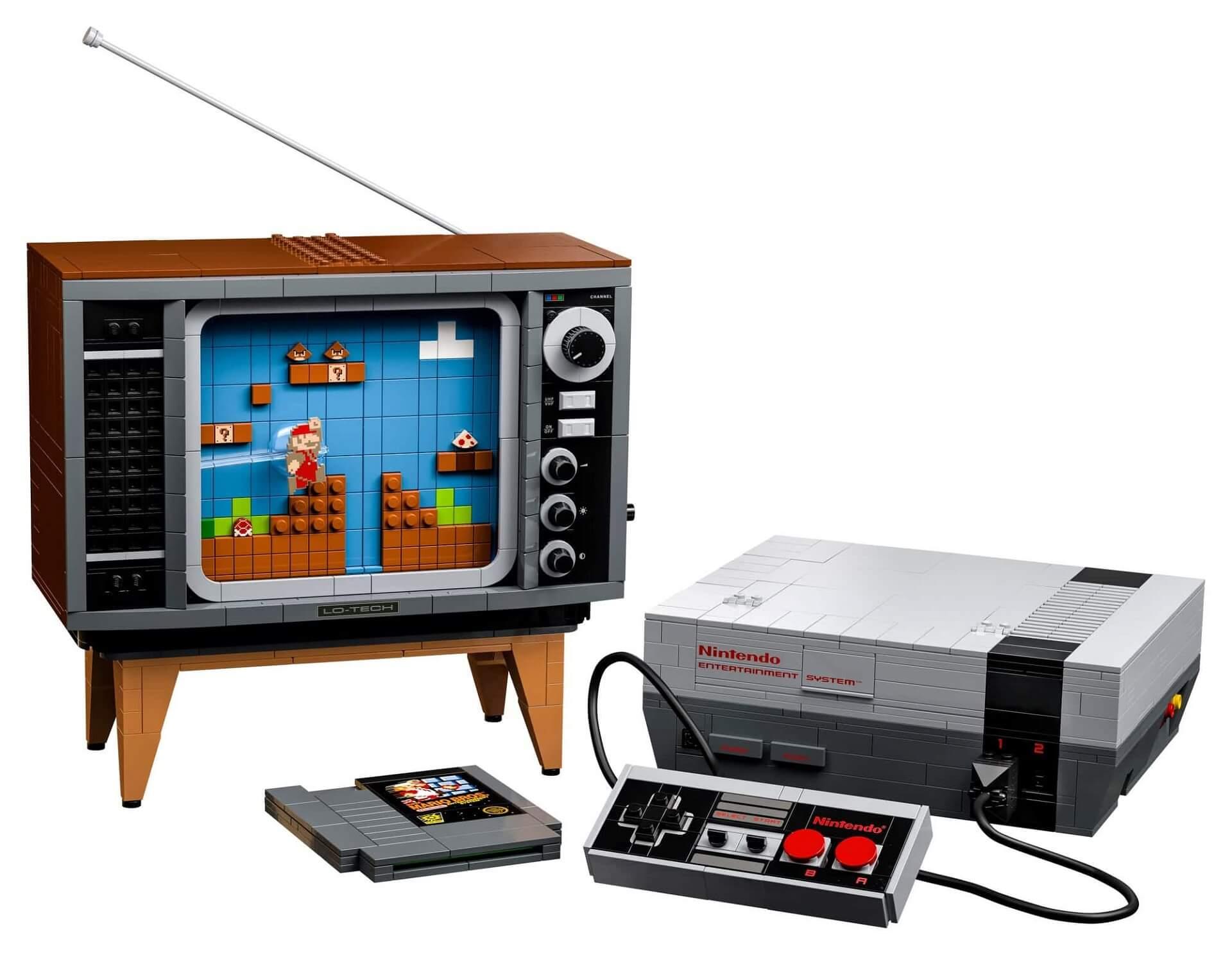 Lego-NES: Konsole als Klemmbaustein