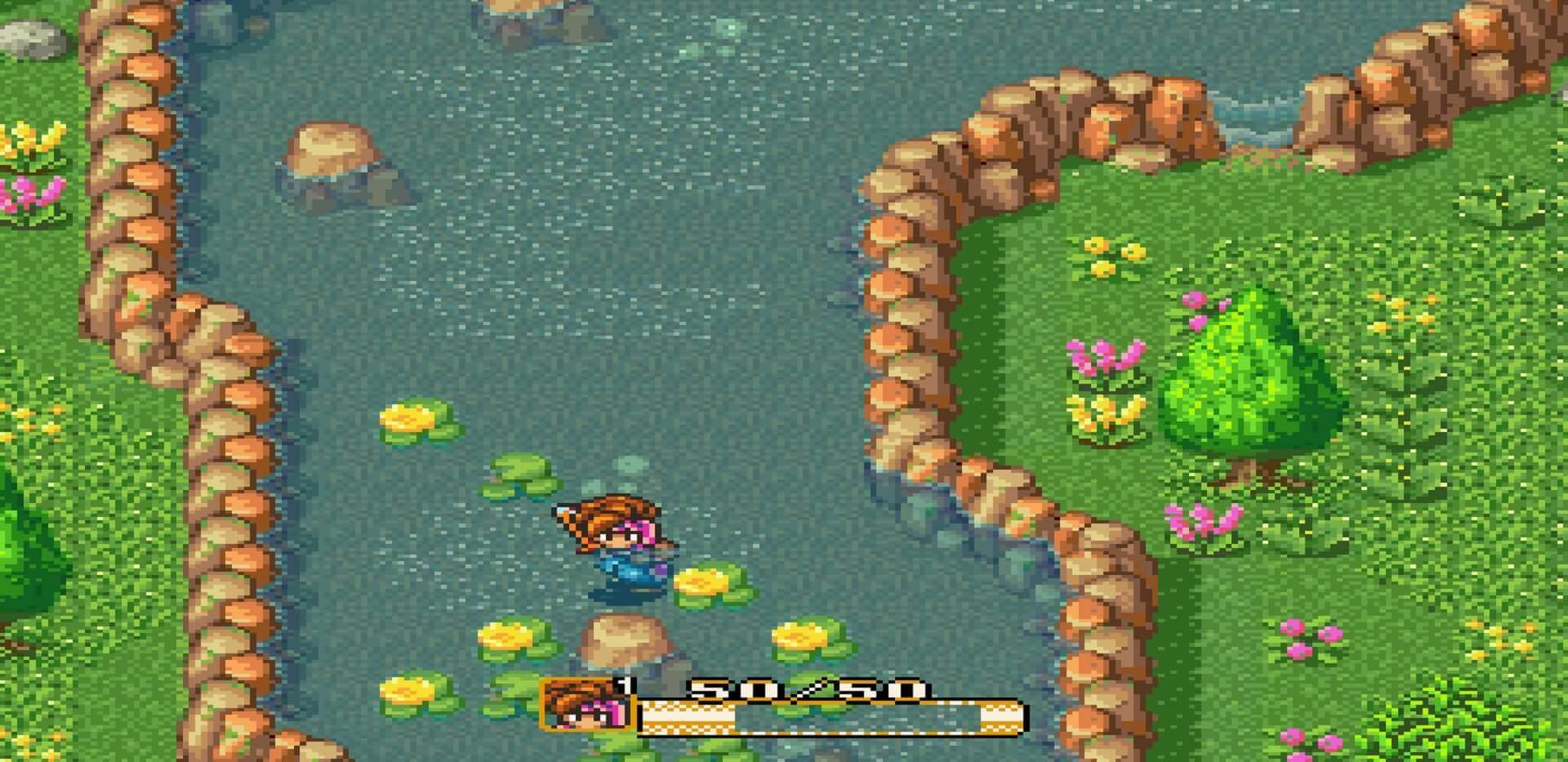 Secret of Mana: Held zieht Schwert aus dem Stein