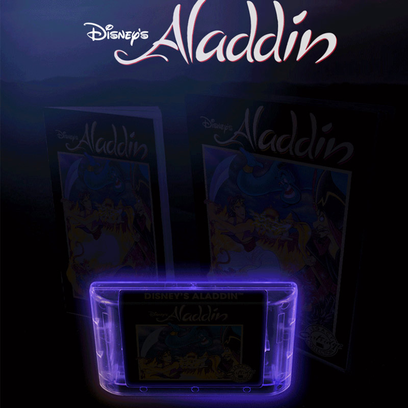 Aladdin Legacy: Lila Cartridge im dunklen leuchtet.