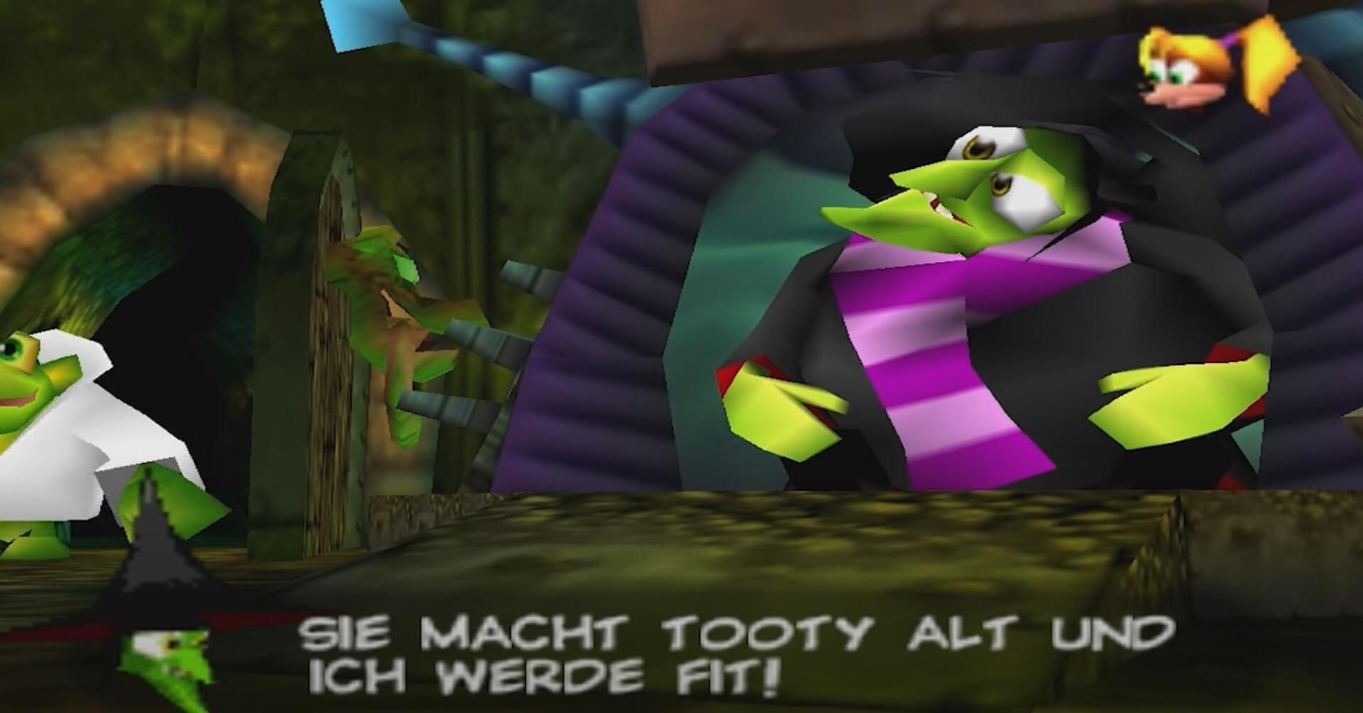 Banjo-Kazooie: Gruntilda die Hexe spricht in Reimen