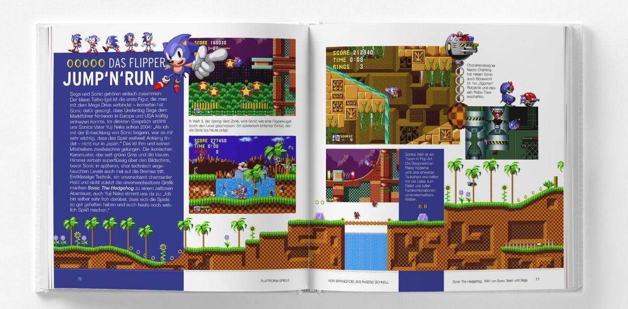 Das inoffizielle Mega Drive Pixel-Buch: Fakten-Seite Sonic the Hedgehog