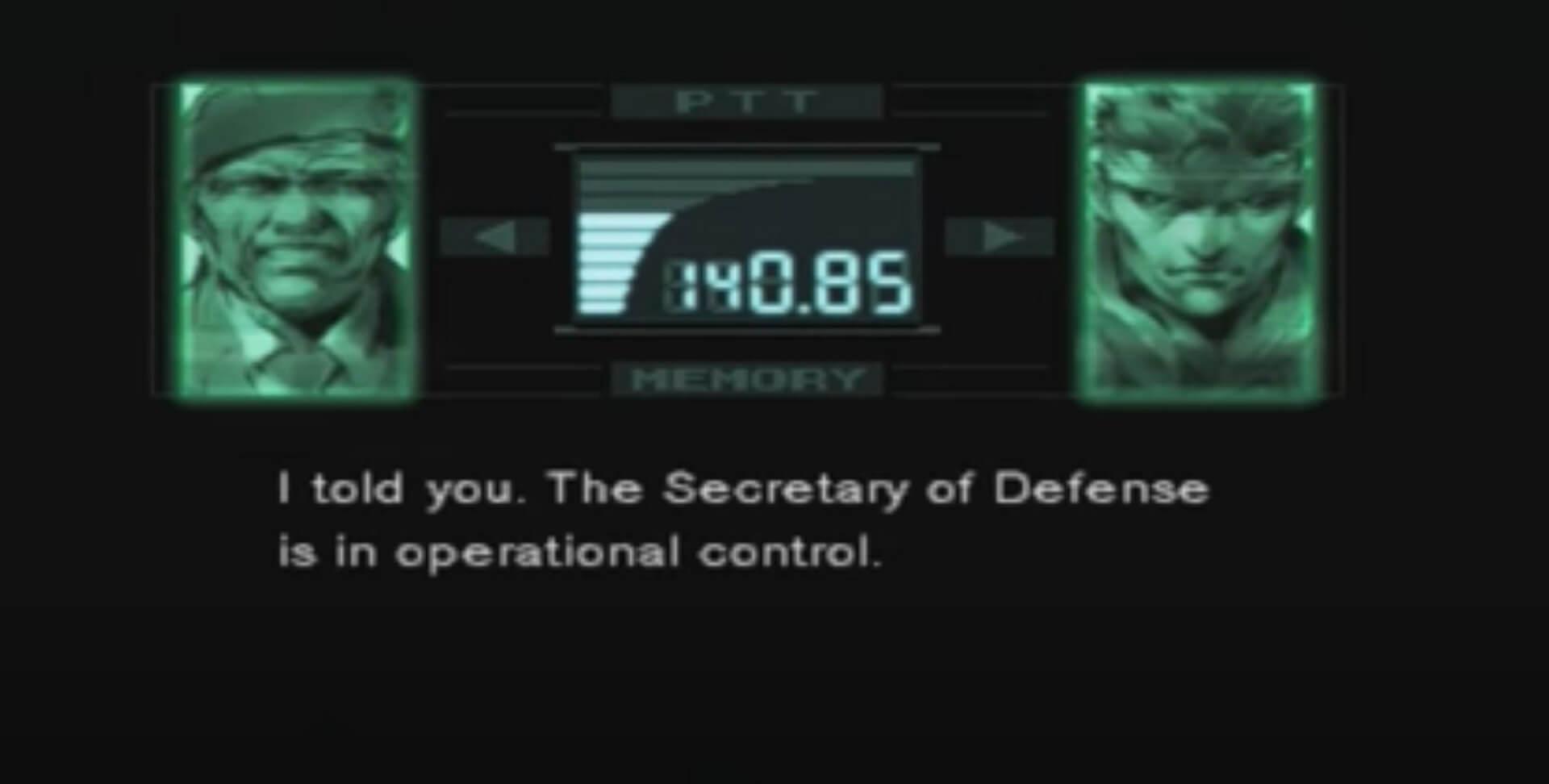 Metal Gear Solid: Briefing mit Roy Campell
