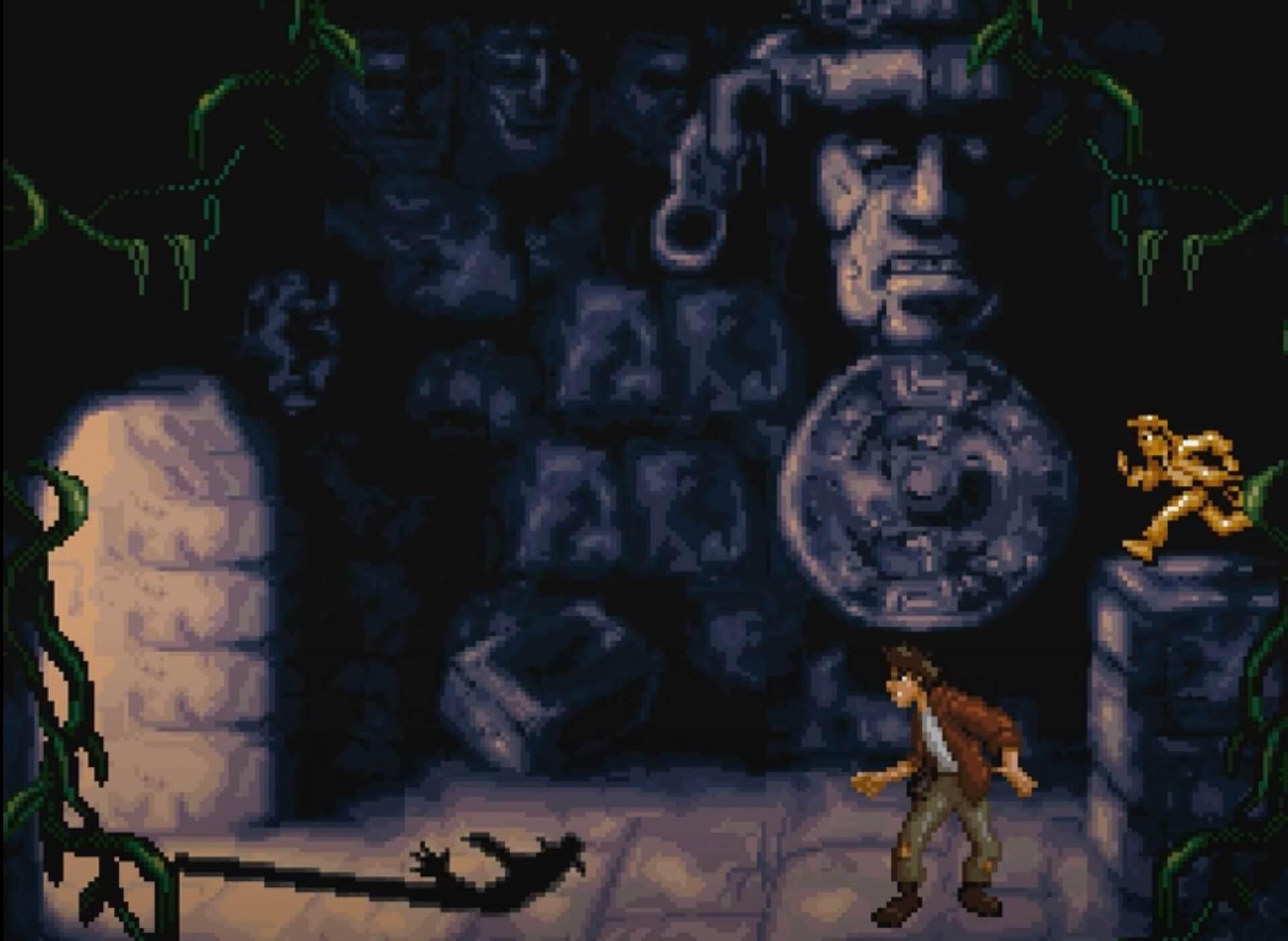 Pitfall The Mayan Adventure (SNES): Pitfall Senior wird von einem rachsüchtigen Maja-Geist entführt