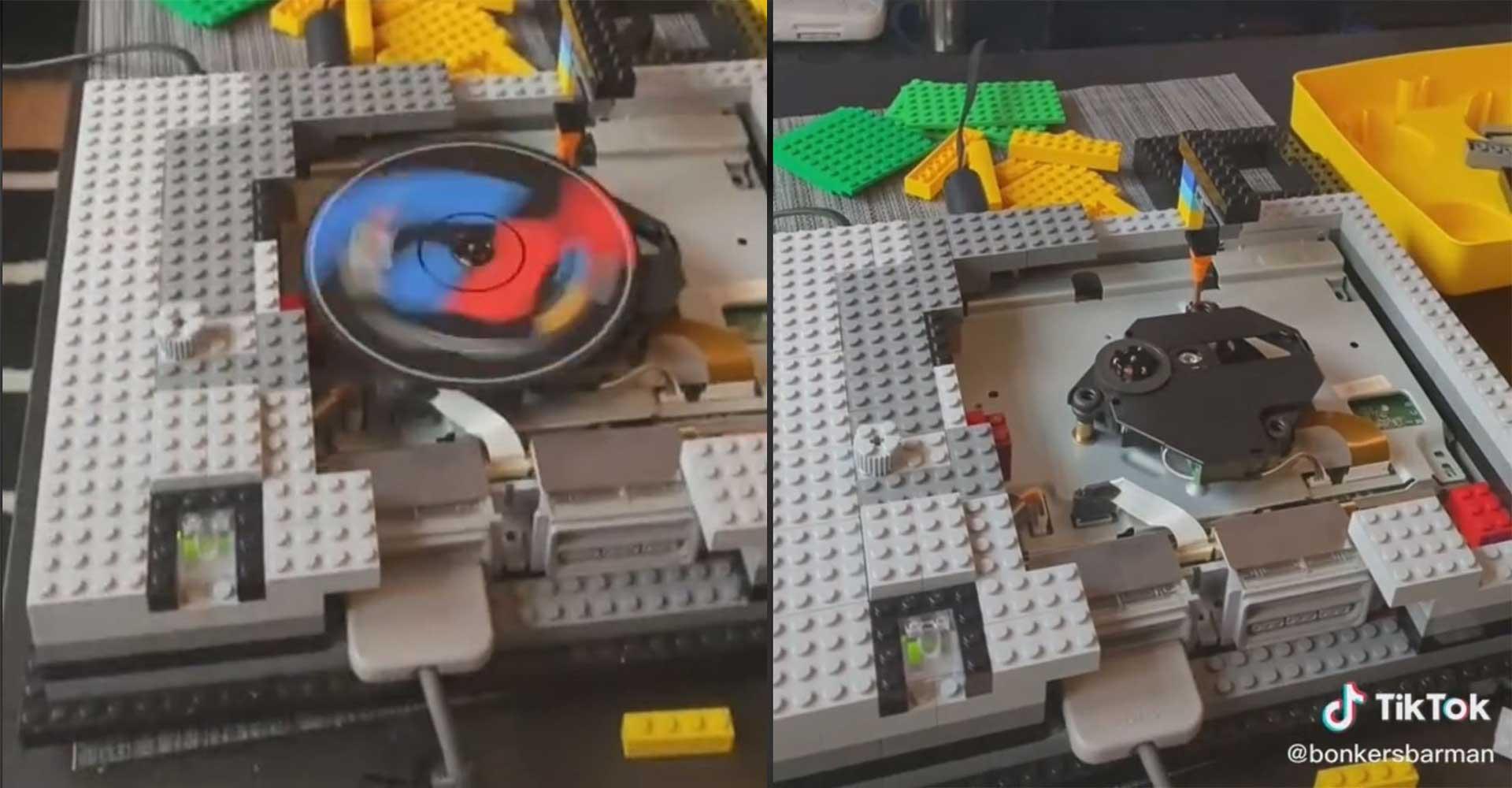 Retro-Gamer baut PS1-Konsole aus Legosteinen