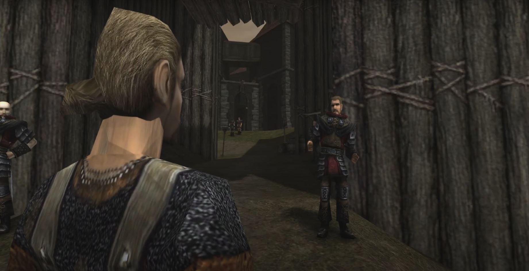 Gothic 1: Der namenlose Held trifft auf die Lagerwachen