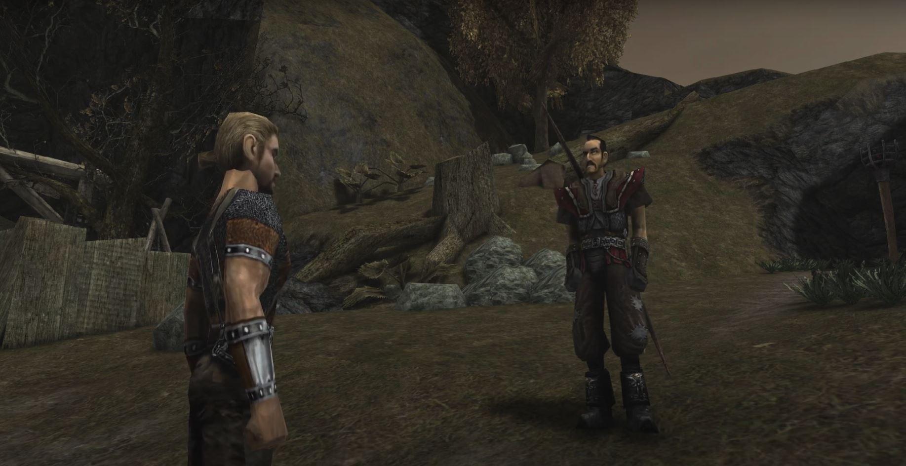 Gothic 1: Der namenlose Held trifft das erste Mal auf Diego