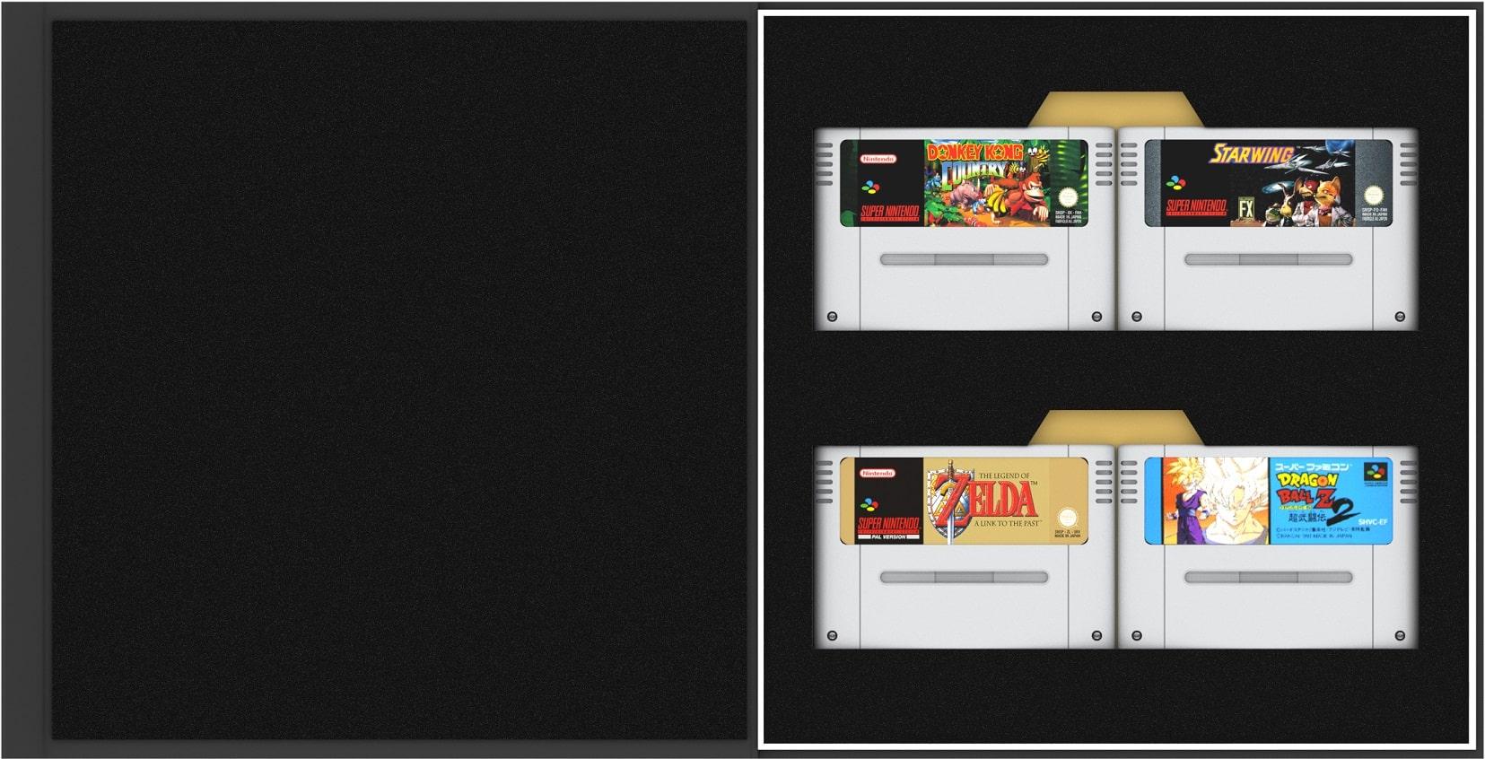 """""""Precision Game Storage"""": Cartridge Aufbewahrung für europäisches SNES / japanisches Super Famicom-Cartridges"""