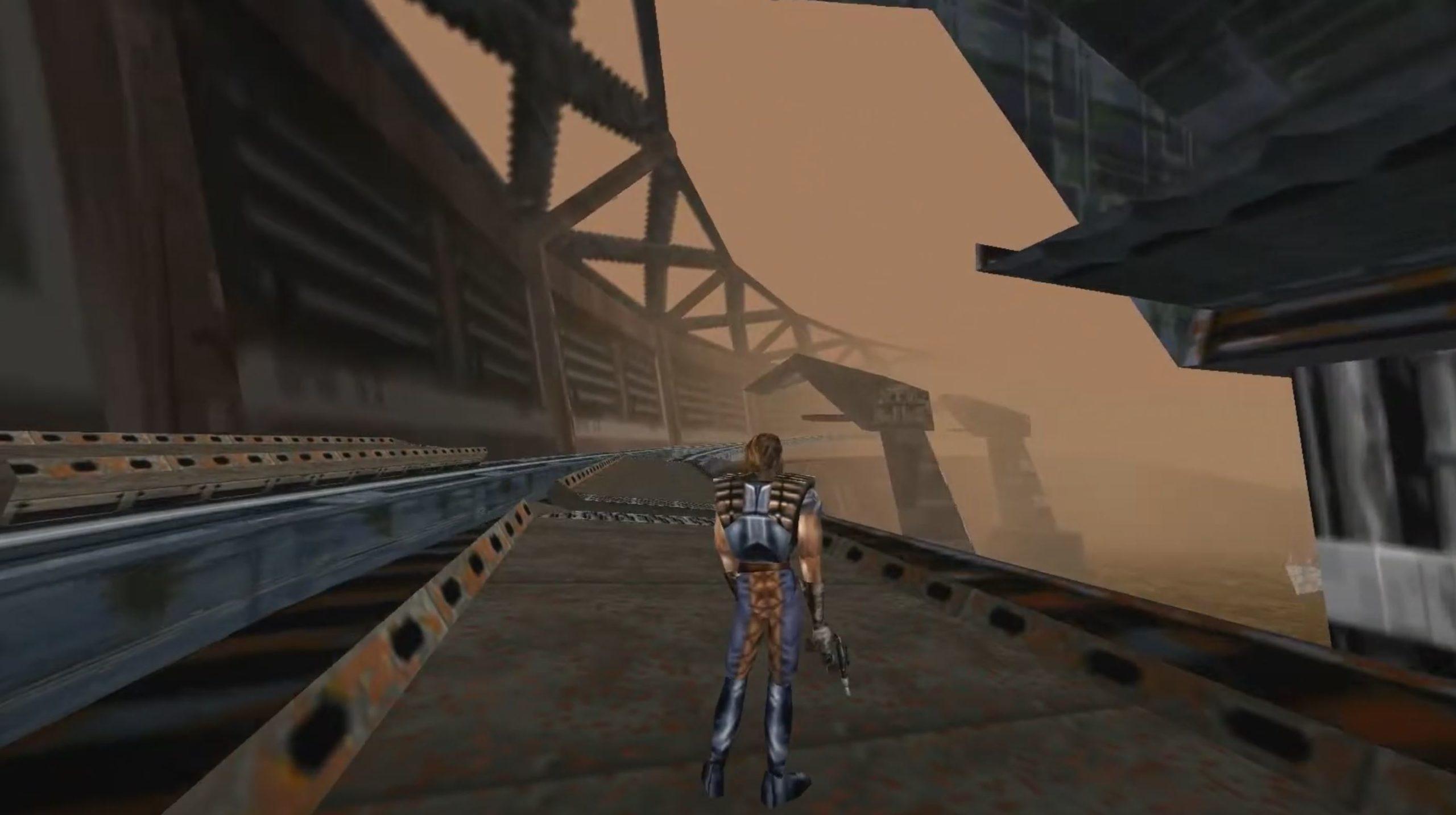 Star Wars Shadow of the Empire: Dash Rendar springt von Zug zu Zug