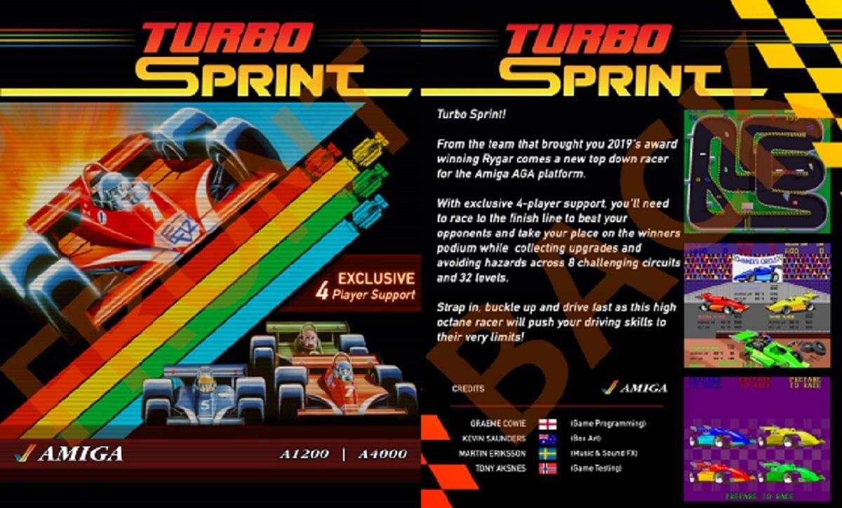 Turbo Sprint: Arcade-Rennspiel für den Amiga portiert