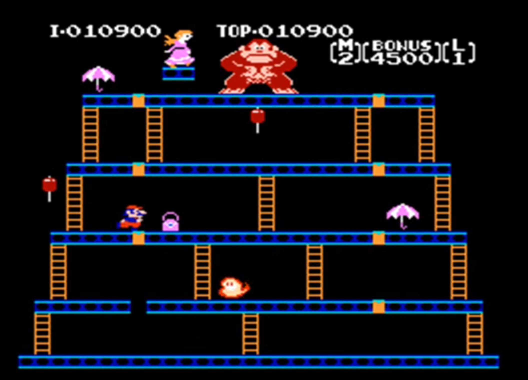 Donkey Kong Arcarde Spiel Bonus Level