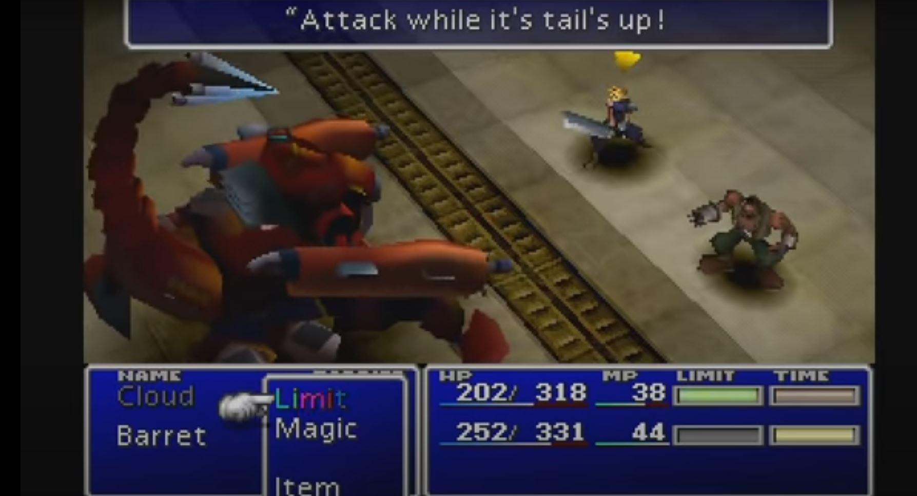 Final Fantasy 7: Kampfbildschirm