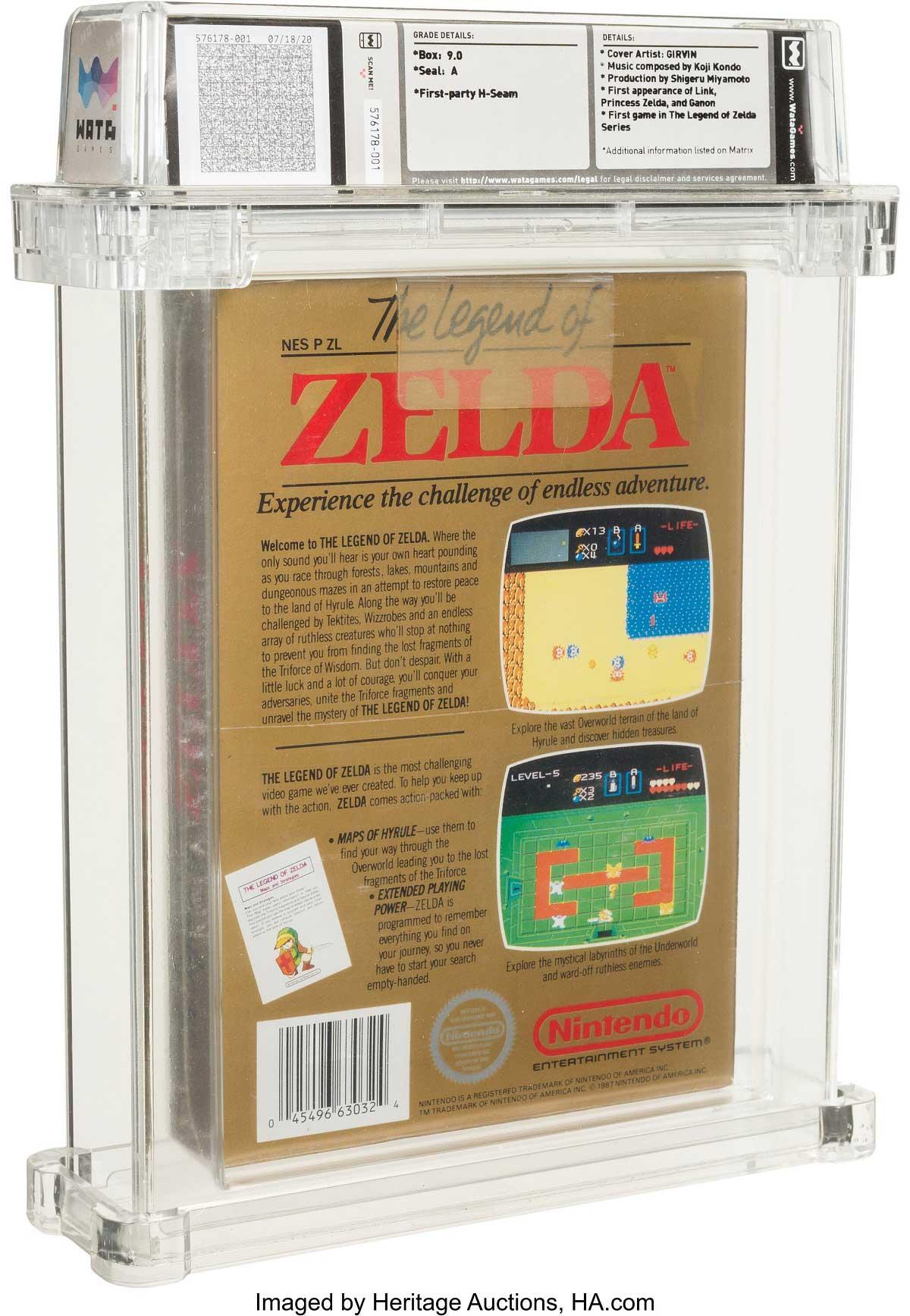 Heritage Auctions: The legend of Zelda NES back