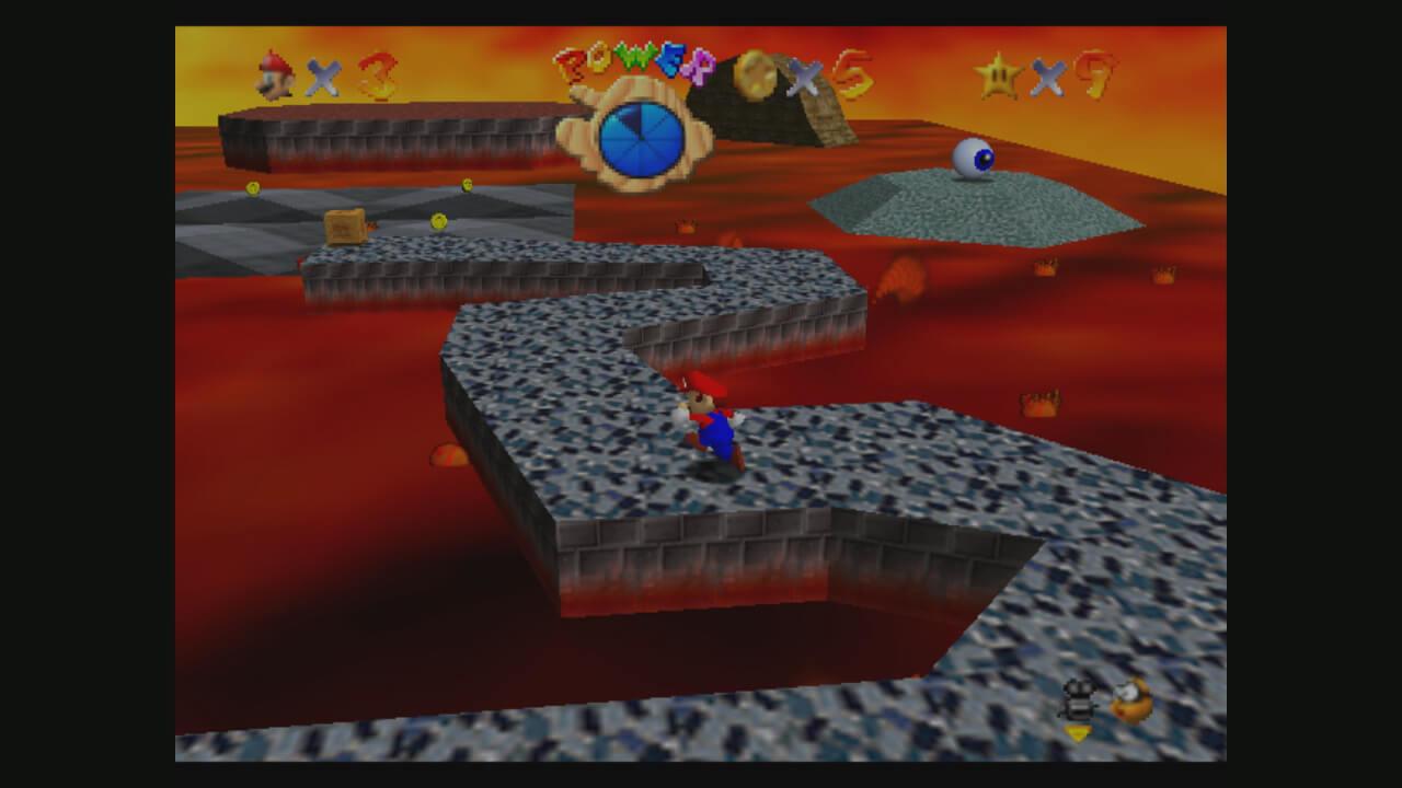 Super Mario 64: Mario in der Lava Lagune