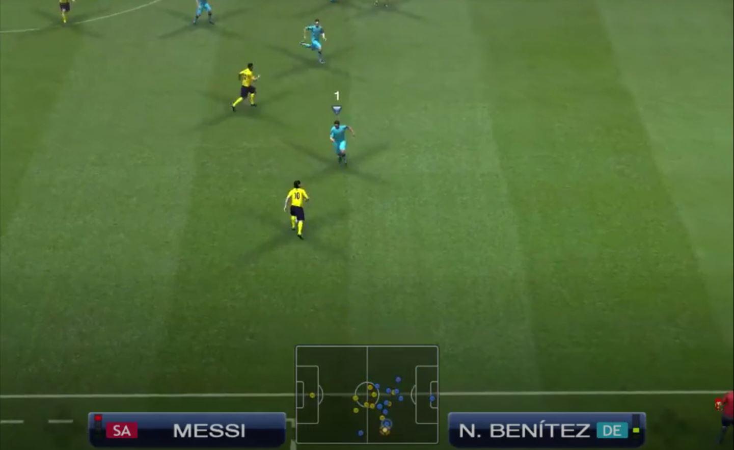 PES 2009: Messi gegen N.Nbenitez