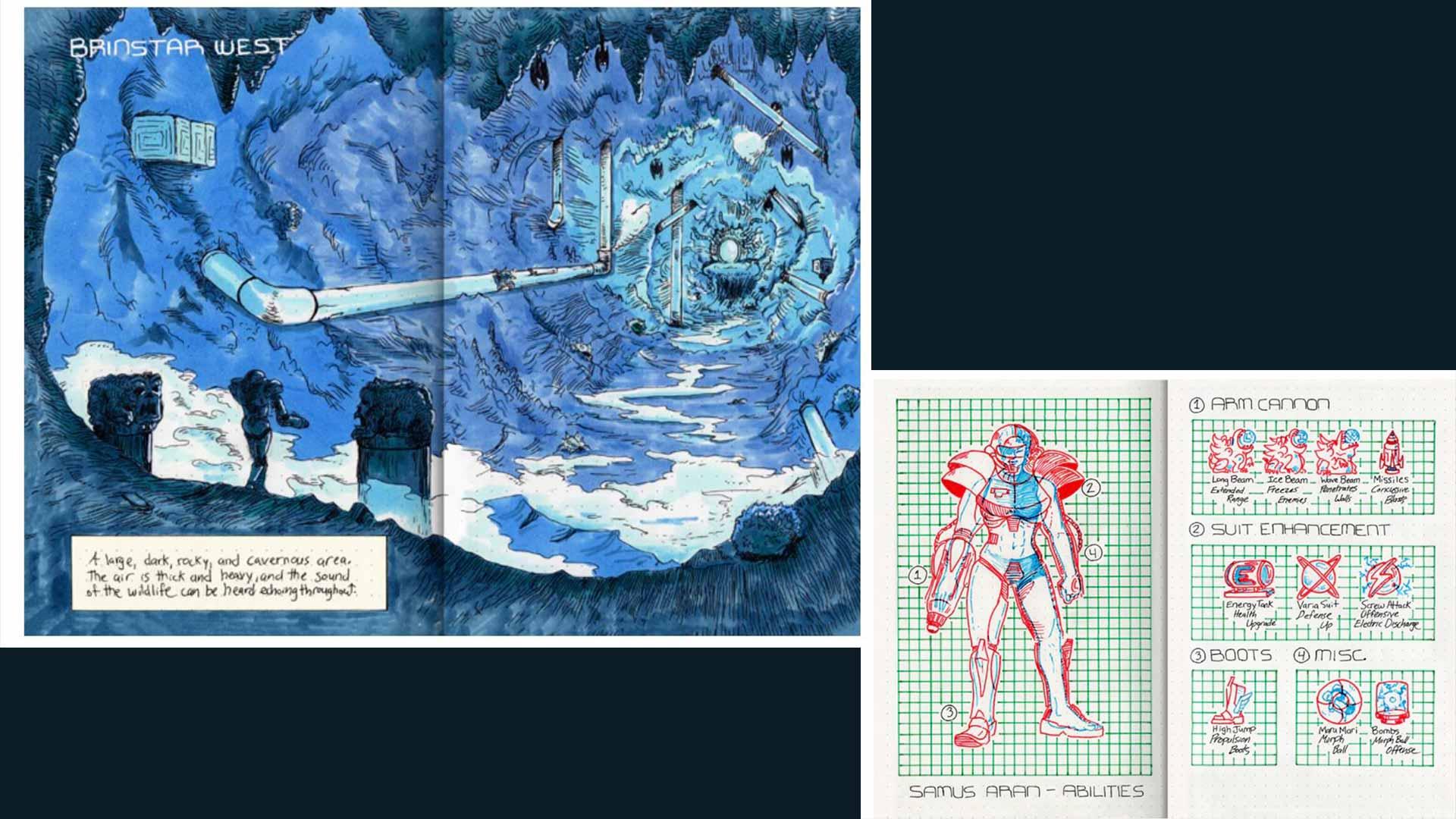 Philip Summers: Gaminguides Illustrationen und Konzeptzeichnungen für Metroid