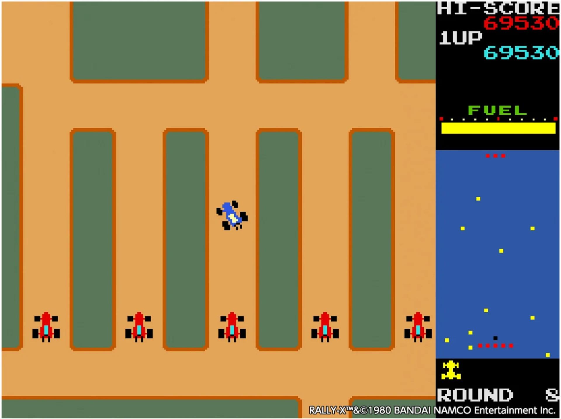 Rally-X für das Arcade Archive